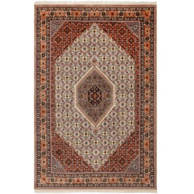 Indo Bidjar Ghalip Hand-Knotted Wool Red Area Rug