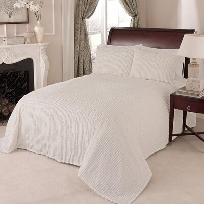 Channel Bedspread Color: Ivory, Size: King