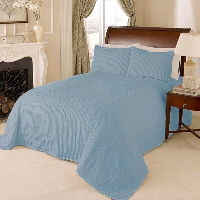 Channel Bedspread Size: Full, Color: Blue