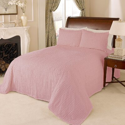Channel Bedspread Color: Rose, Size: Queen
