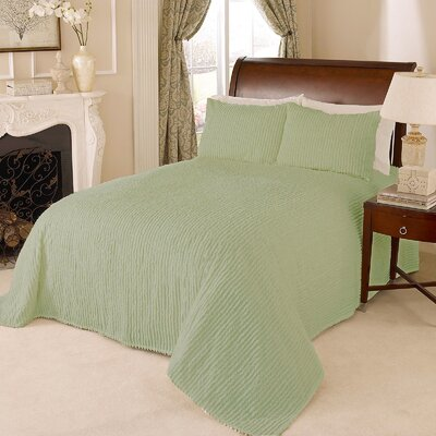 Channel Bedspread Size: Full, Color: Sage