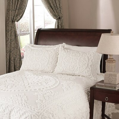 Montriel Chenille Sham Color: White