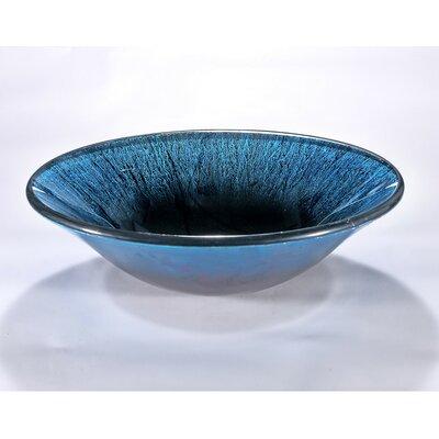 Circular Vessel Bathroom Sink Finish: Blue