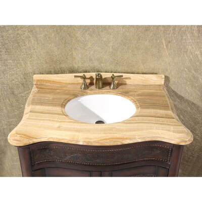 36 Single Bathroom Vanity Set Top Finish: Wood Vein