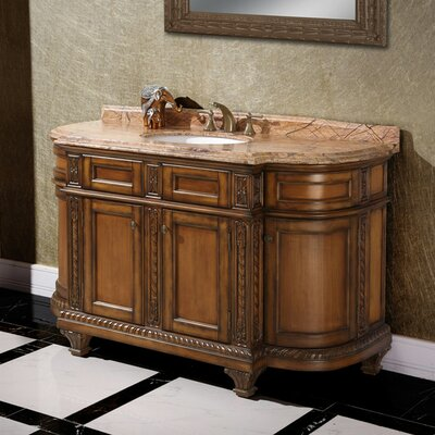 60 Single Bathroom Vanity Set Top Finish: Rainforest Brown