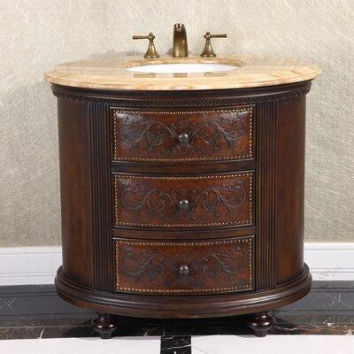 36 Single Bathroom Vanity Set Top Finish: Wood Vein