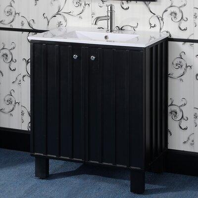 InFurniture IN 31 Series Single Sink Door Bathroom Vanity Set - Base Finish: Black