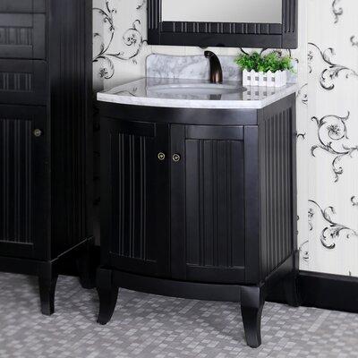 27 Single Sink WB Series Bathroom Vanity Set Base Finish: Black