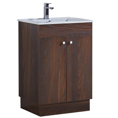 23.3 Single Bathroom Vanity Set Base Finish: Brown Elm