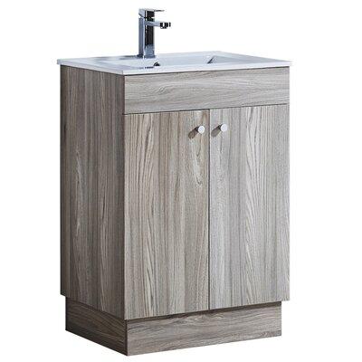 23.3 Single Bathroom Vanity Set Base Finish: Gray Walnut