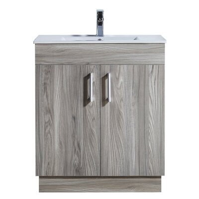 29.2 Single Bathroom Vanity Set Base Finish: Gray Walnut
