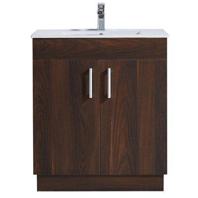 29.2 Single Bathroom Vanity Set Base Finish: Brown Elm