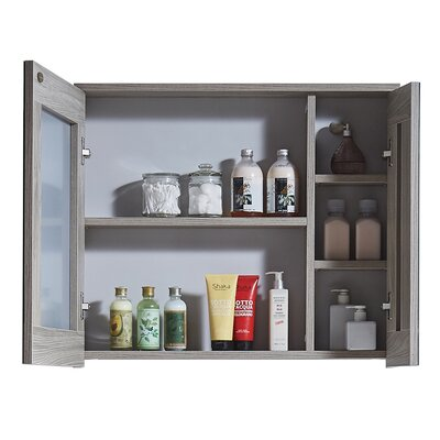 In 35 Series 23.6 X 25.6 Surface Mount Medicine Cabinet Finish: Grey Walnut