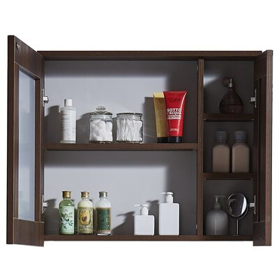 In 35 Series 23.6 X 25.6 Surface Mount Medicine Cabinet Finish: Brown Elm