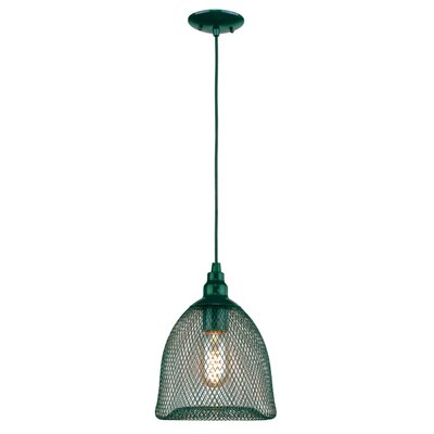 Free-collocational Mesh Enclosure Pendant Light Shade Color: Dark Turquoise