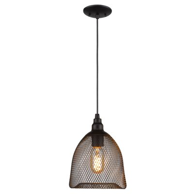 Free-collocational Mesh Enclosure Pendant Light Shade Color: Black