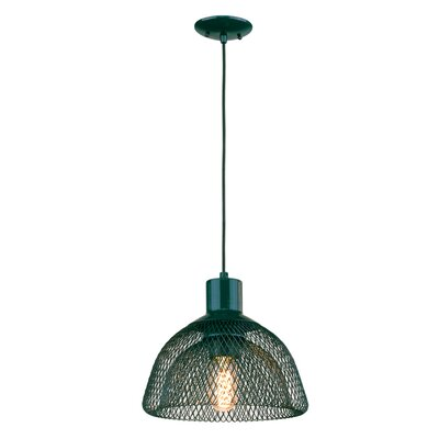 Free-collocational Mesh Enclosure Pendant Light Shade Color: Dark Turquoise Finish