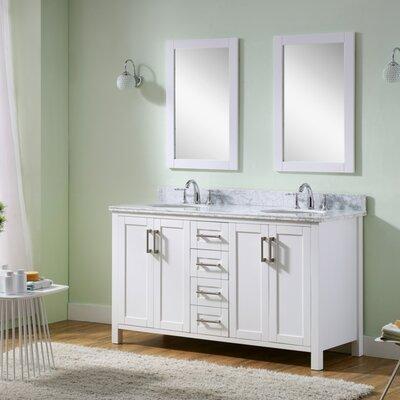 Hodgeman 60 Double Vanity Set with Mirror