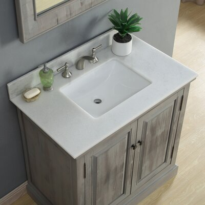 Rundall Single Bathroom Vanity Set Top Finish: Arctic Pearl