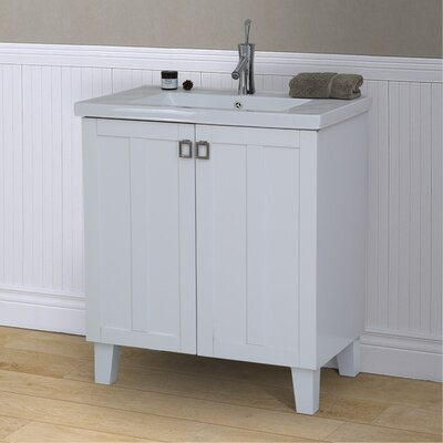 37 Series 30 Single Bathroom Vanity Set Base Finish: White