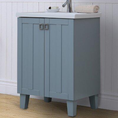 24 Single Bathroom Vanity Set Base Finish: Gray Blue