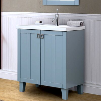 37 Series 30 Single Bathroom Vanity Set Base Finish: Gray Blue