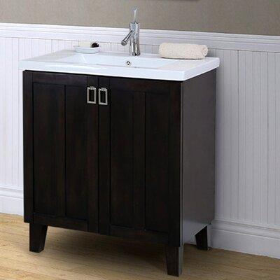37 Series 30 Single Bathroom Vanity Set Base Finish: Dark Brown