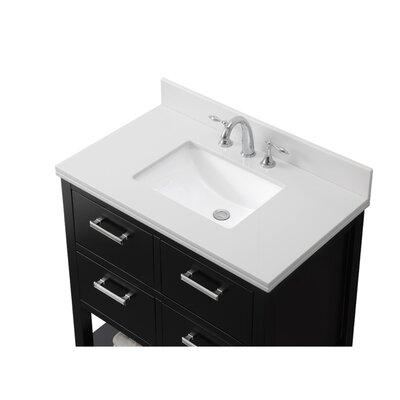 37 Single Bathroom Vanity Set Base Finish: Espresso, Top Finish: Phoenix White Quartz