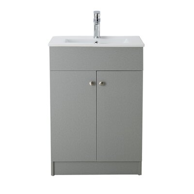 Usry 24 Single Bathroom Vanity Set Base Finish: Silver Grey