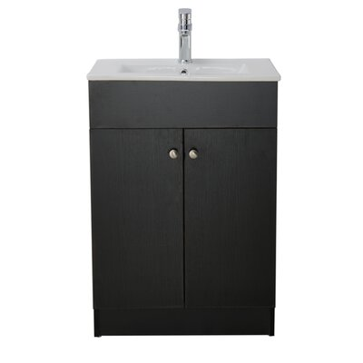 Usry 24 Single Bathroom Vanity Set Base Finish: Black Embossment
