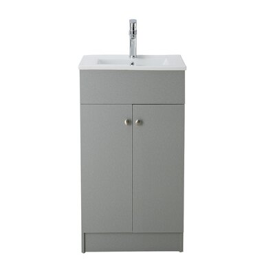 Chance 19 Single Bathroom Vanity Set Base Finish: Silver Grey