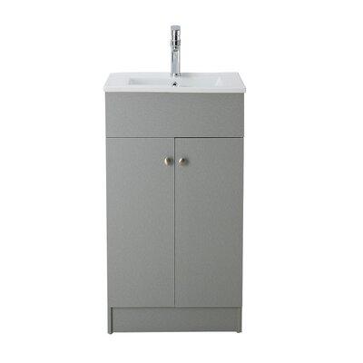 Susanna 19 Single Bathroom Vanity Set Base Finish: Silver Grey