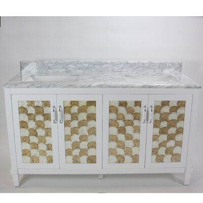 Nonatum 60 White Double Bathroom Vanity