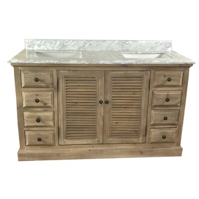 Bayport 60 Double Bathroom Vanity Set