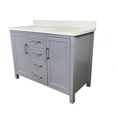 Hodgin 48 Single Bathroom Vanity Top Finish: White