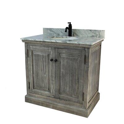 Swinyer 1 Sink Bathroom Vanity Set Top Finish: Carrera White