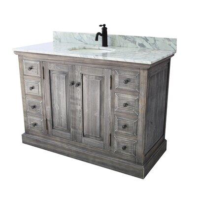 Carlton Rustic 1 Sink Bathroom Vanity Set Top Finish: Carrera White