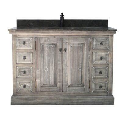 Carlton Rustic 1 Sink Bathroom Vanity Set Top Finish: Limestone