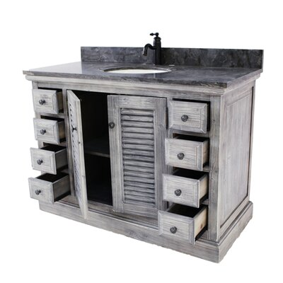 Georgiev 48 Single Bathroom Vanity Set Top Finish: Limestone