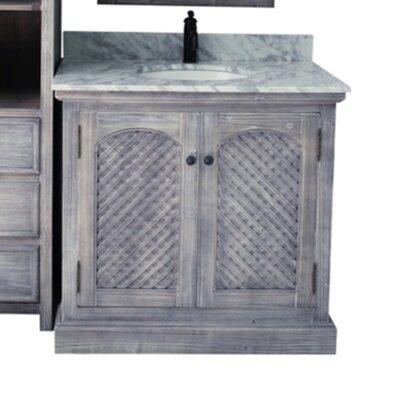 Steinheimer 36 Single Bathroom Vanity Set Top Finish: Carrera White