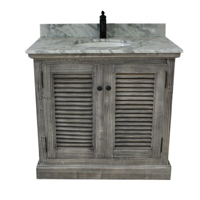 36 Single Bathroom Vanity Set Top Finish: Carrera White
