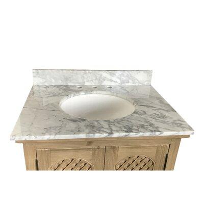 Sloan Single Bathroom Vanity Set Top Finish: Carrara White