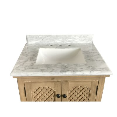 Lailah Single Bathroom Vanity Set Top Finish: Carrara White Square Sinks