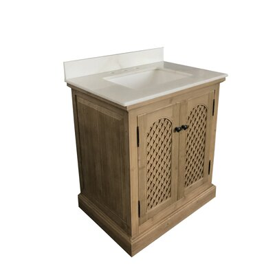 Lailah Single Bathroom Vanity Set Top Finish: Arctic Pearl