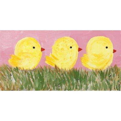 Three Chicks by Judith Raye Original Painting Print KPCKS1206
