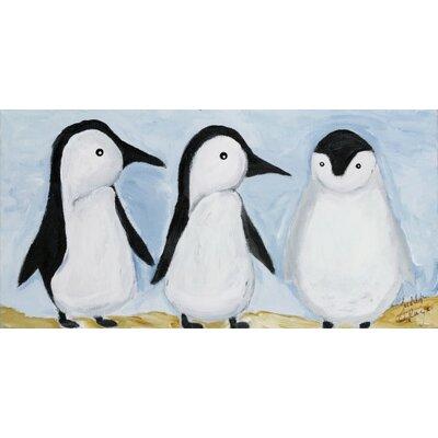 Three Penguins by Judith Raye Original Painting Print KPPNG1206