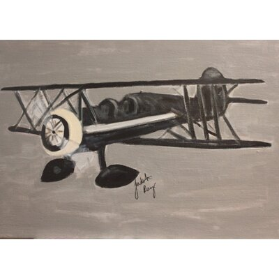 'BiPlane' by Judith Raye Painting Print on Wrapped Canvas CGNBP1411