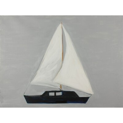 'Sailboat' by Judith Raye Painting Print on Wrapped Canvas CGNSB1612