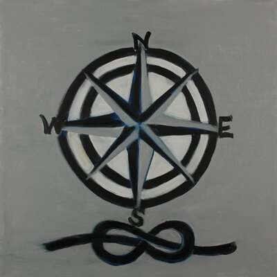 'Compass' by Judith Raye Painting Print on Wrapped Canvas CGCSK1818