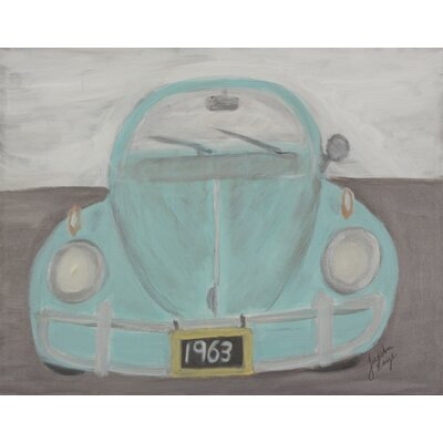 'Transportation Bug' by Judith Raye Frame Painting Print on Canvas in Blue BGBB1411